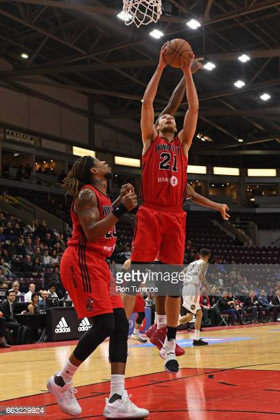 Alec Brown of the Windy City Bulls grabs a rebound against the Raptors 905 on March 30 2017 in Mississauga Ontario Canada NOTE TO USER User expressly...