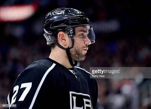 Alec Martinez of the Los Angeles Kings during the game against the Edmonton Oilers at Staples Center on November 14 2015 in Los Angeles California