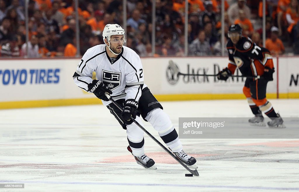 Alec Martinez #27 of the Los Angeles Kings skates against the Anaheim Ducks in Game One of the Second Round of the 2014 NHL Stanley Cup Playoffs at Honda Center on May 3, 2014 in Anaheim, California.