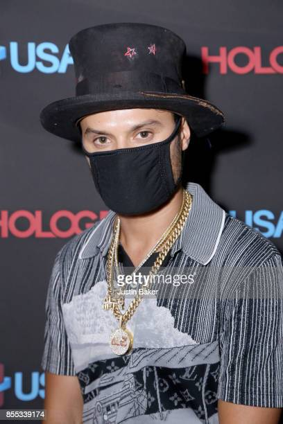 Alec Monopoly attends Hologram USA's Gala Preview at Hologram USA Theater on September 28 2017 in Los Angeles California