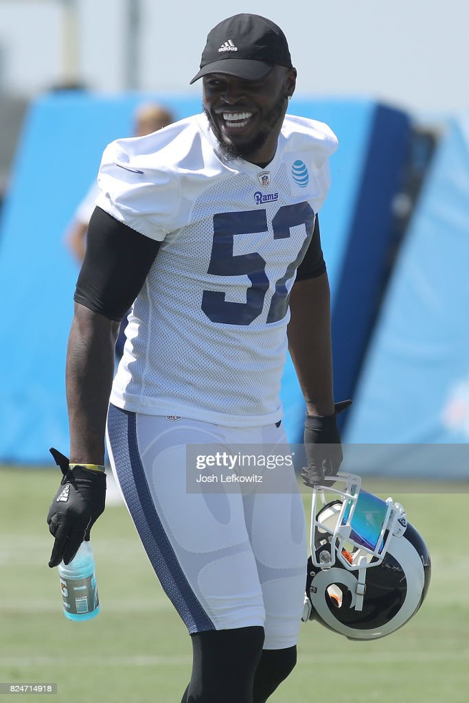 Alec Ogletree #52 of the Los Angeles Rams is seen at Training Camp at Crawford Field on July 30, 2017 in Irvine, California.