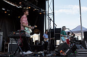 Alec O'Hanley Brian Murphy Molly Rankin and Kerri MacLellan from Alvvays performs at Northside Festival Day 3 on June 13 2015 in the Brooklyn borough...