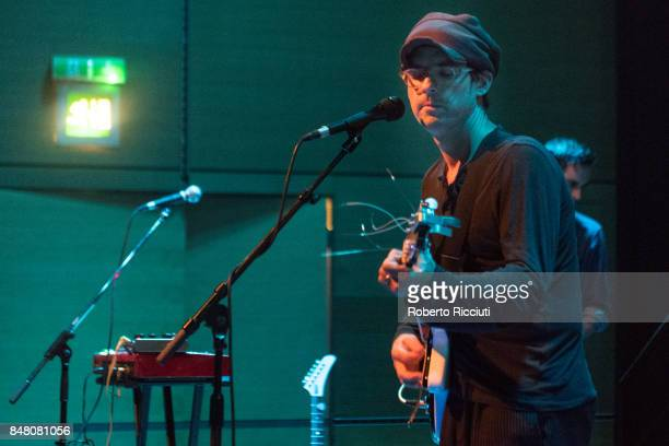 Alec Ounsworth of Clap Your Hands Say Yeah performs on stage at CCA on September 16 2017 in Glasgow Scotland