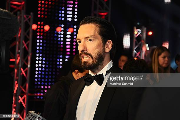 Alec Voelkel aka Boss Burns of The BossHoss attends the Eurovision Song Contest 2015 Wer singt fuer Oesterreich finals at ORF Zentrum on March 13...