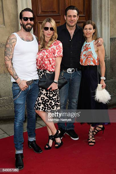 Alec Voelkel and his girlfriend Johanna Sascha Vollmer and his girlfriend Jenny attend during the MICHALSKY StyleNite 2016 on July 1 2016 in Berlin...