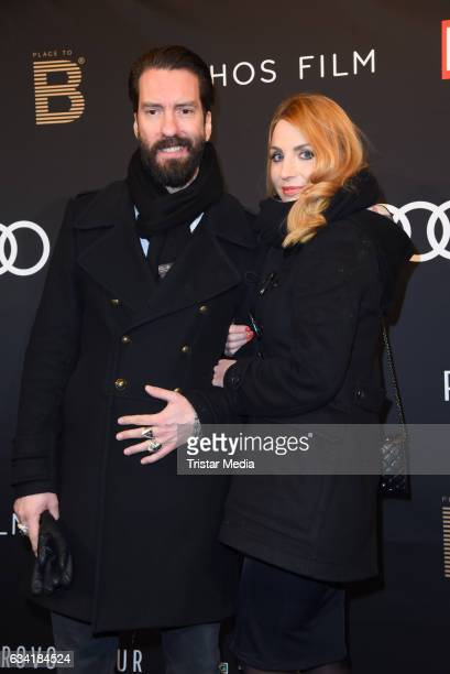 Alec Voelkel and his wife Johanna Michels attend the PLACE TO B PreBerlinale Dinner at Provocateur on February 7 2017 in Berlin Germany