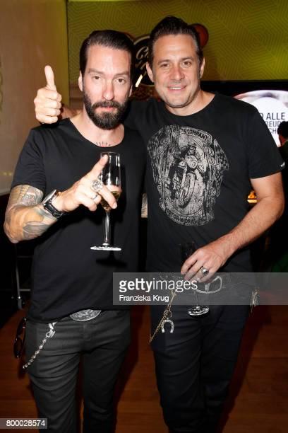 Alec Voelkel and Sascha Vollmer attend the 'Bertelsmann Summer Party' at Bertelsmann Repraesentanz on June 22 2017 in Berlin Germany