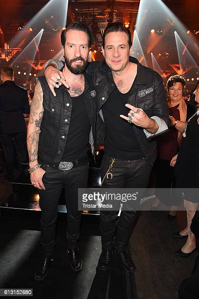 Alec Voelkel and Sascha Vollmer of The BossHoss attend the Deutscher Radiopreis 2016 on October 6 2016 in Hamburg Germany