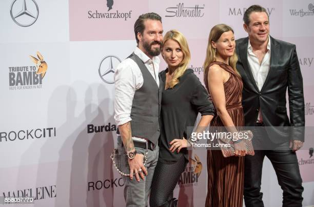 Alec Voelkel Johanna VoelkelSascha Vollmer and girlfriend Jenny attend the Tribute To Bambi at Station on October 5 2017 in Berlin Germany