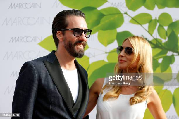 Alec Voelkel member of the band The BossHoss and his wife Johanna Voelkel attend the Marc Cain Fashion Show Spring/Summer 2018 at ewerk on July 4...