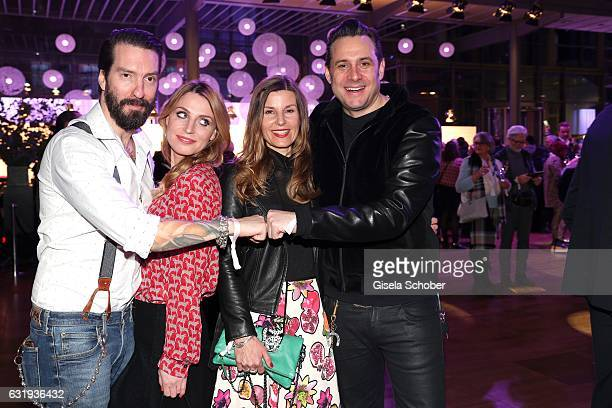 Alec Voelkel member of 'The Boss Hoss' and his wife Johanna Michels and Sascha Vollmer member of 'The Boss Hoss' and his wife Jenny Vollmer during...