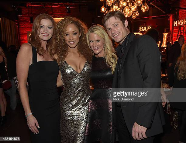 Alecia Davis Chaley Rose Allison Jones and Chris Carmack attend the Big Machine Label Group Celebrates The 48th Annual CMA Awards in Nashville on...