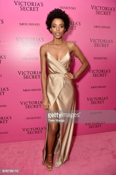 Alecia Morais attends the 2017 Victoria's Secret Fashion Show In Shanghai After Party at MercedesBenz Arena on November 20 2017 in Shanghai China