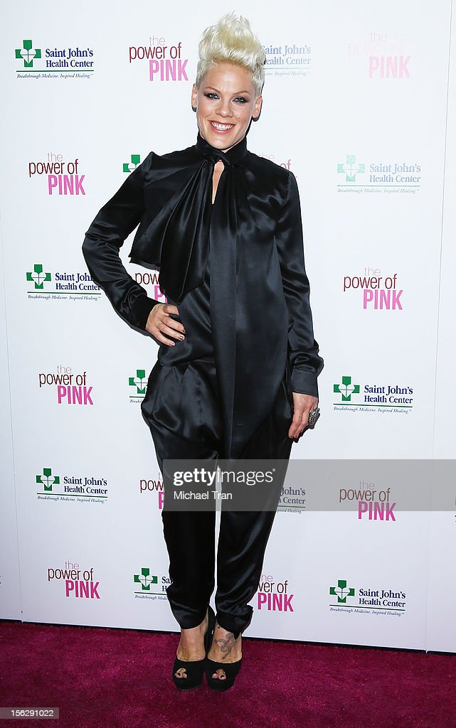 Alecia 'Pink' Moore arrives at St. John's Health Center's 'Power of Pink' benefiting The Margie Petersen Breast Center held at Sony Picture Studios on November 12, 2012 in Los Angeles, California.