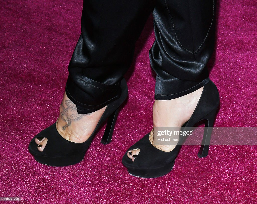 Alecia '<a gi-track='captionPersonalityLinkClicked' href=/galleries/search?phrase=Pink+-+Singer&family=editorial&specificpeople=220194 ng-click='$event.stopPropagation()'>Pink</a>' Moore (shoe and tattoo detail) arrives at St. John's Health Center's 'Power of <a gi-track='captionPersonalityLinkClicked' href=/galleries/search?phrase=Pink+-+Singer&family=editorial&specificpeople=220194 ng-click='$event.stopPropagation()'>Pink</a>' benefiting The Margie Petersen Breast Center held at Sony Picture Studios on November 12, 2012 in Los Angeles, California.
