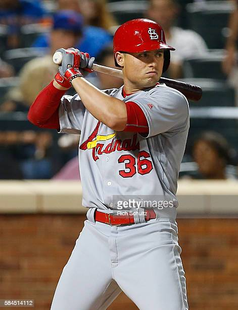 Aledmys Diaz of the St Louis Cardinals in action against the New York Mets in game two of a doubleheader at Citi Field on July 26 2016 in the...