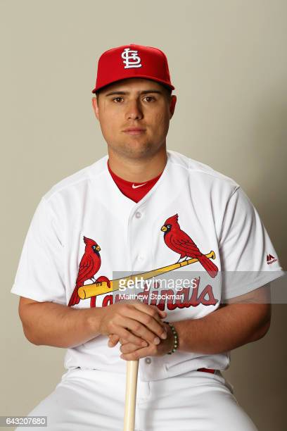 Aledmys Diaz poses for a portrait during St Louis Cardinals Photo Day at Roger Dean Stadium on February 20 2017 in Jupiter Florida