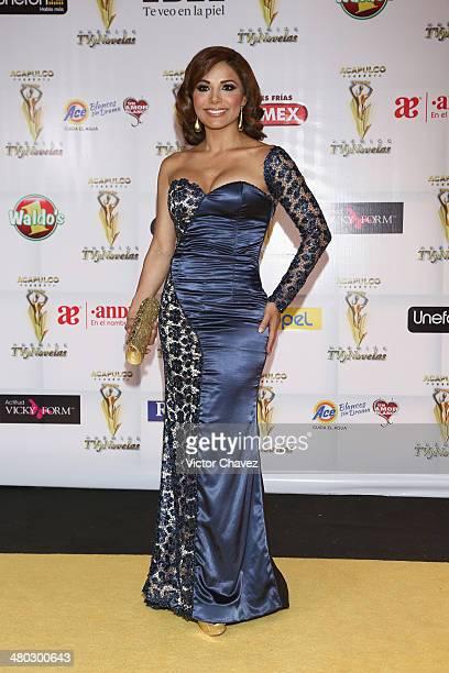 Aleida Núnez attends the Premios Tv y Novelas 2014 at Televisa Santa Fe on March 23 2014 in Mexico City Mexico