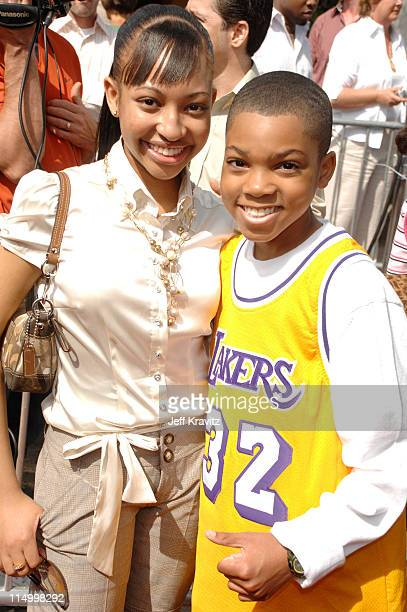Aleisha Allen and Philip Daniel Bolden during 'Are We Done Yet' Los Angeles Premiere Red Carpet at Mann Village Theater in Westwood California United...