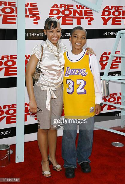 Aleisha Allen and Philip Daniel Bolden during 'Are We Done Yet' Los Angeles Premiere Arrivals at Manns Village Theater in Westwood California United...