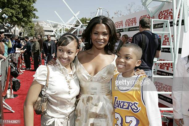 Aleisha Allen Nia Long and Philip Daniel Bolden during The Premiere of Revolution Studios' and Columbia Pictures' 'Are We Done Yet' Red Carpet at...
