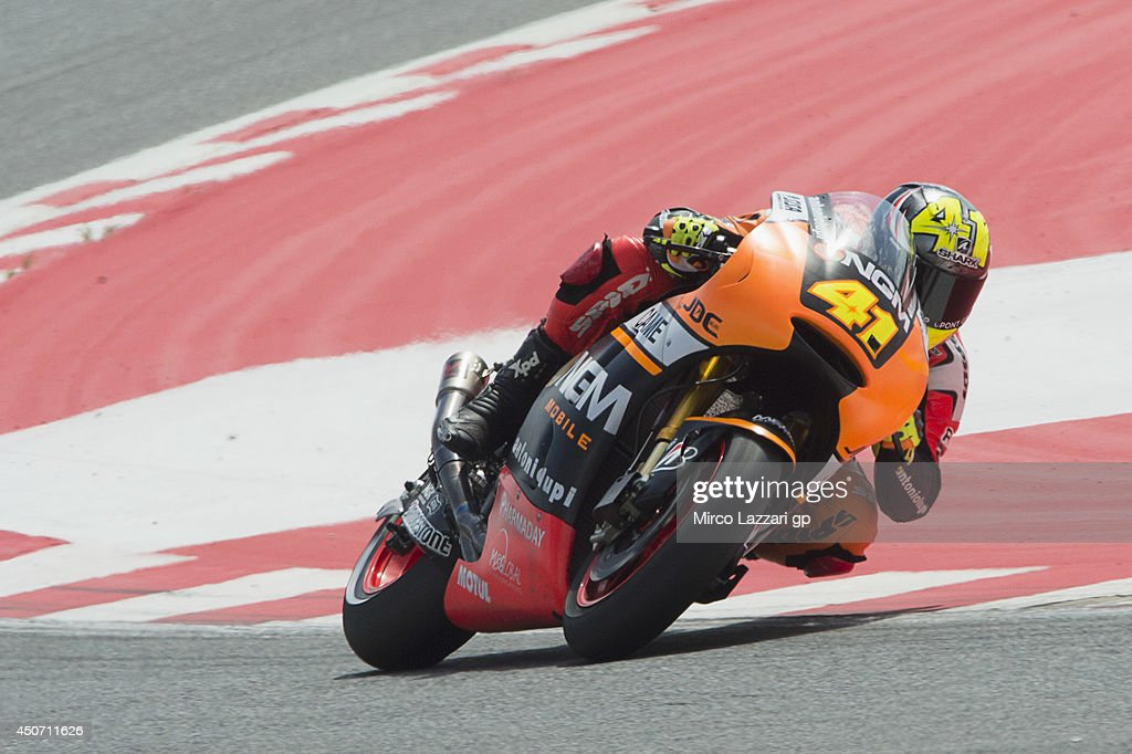 Aleix Espargaro of Spain and NGM Mobile Forward Racing heads down a straight during the MotoGp Tests In Montmelo at Circuit de Catalunya on June 16, 2014 in Montmelo, Spain.