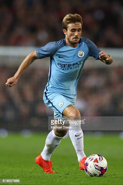 Aleix Garcia of Manchester City during the EFL Cup Fourth Round match between Manchester United and Manchester City at Old Trafford on October 26...