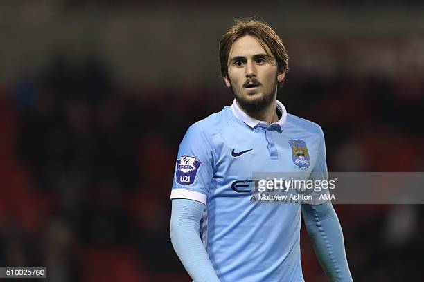 Aleix Garcia of Manchester City U21 during the Barclays Under21 Premier League Division One match between Manchester United U21 and Manchester City...