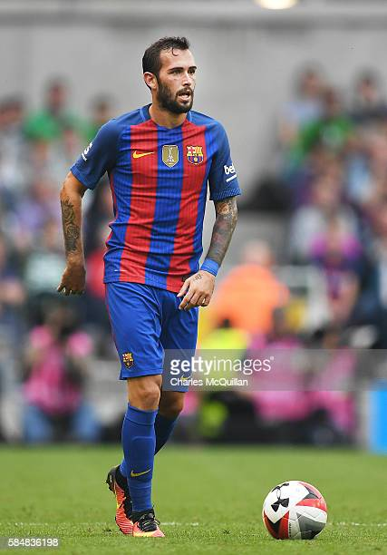 Aleix Vidal of Barcelona during the International Champions Cup series match between Barcelona and Celtic at Aviva Stadium on July 30 2016 in Dublin...