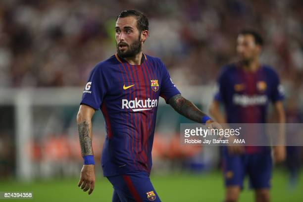 Aleix Vidal of FC Barcelona during the International Champions Cup 2017 match between Real Madrid and FC Barcelona at Hard Rock Stadium on July 29...