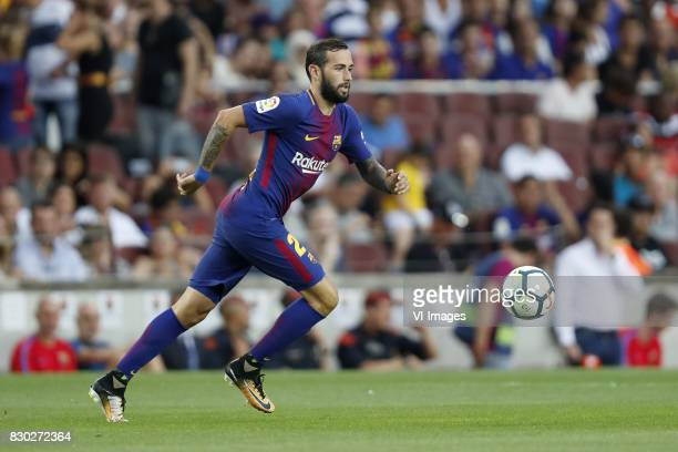 Aleix Vidal of FC Barcelona during the Trofeu Joan Gamper match between FC Barcelona and Chapecoense on August 7 2017 at the Camp Nou stadium in...