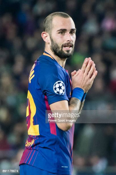Aleix Vidal of FC Barcelona reacts during the UEFA Champions League 201718 match between FC Barcelona and Sporting CP at Camp Nou on 05 December 2017...