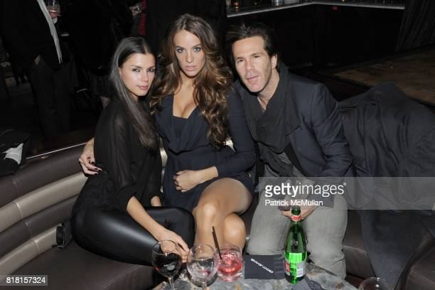Alejandra Cata Jade Foret and Scott Lipps attend THE CINEMA SOCIETY DKNY JEANS host the after party for 'DUE DATE' at Lavo on November 1 2010 in New...