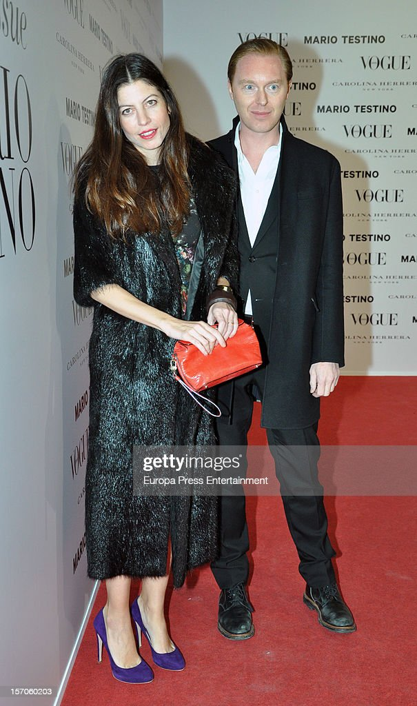 Alejandra de Borbon and Stuart Vevers attend Vogue Magazine December issue launch party at Fernan Nunez Palace on November 27, 2012 in Madrid, Spain.