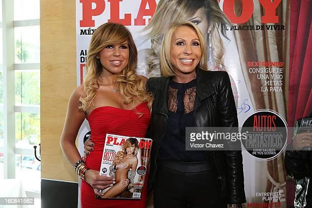 Alejandra de la Fuente Bozzo and her mother Laura Cecilia Bozzo attend the Playboy Mexico magazine february 2013 issue photocall at La Mansion...