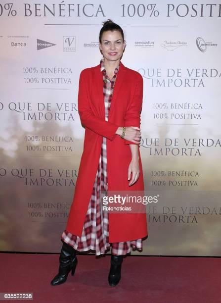Alejandra de Rojas attends the 'Lo Que De Verdad Importa' premiere at the Hotel Vincci Capitol on February 15 2017 in Madrid Spain