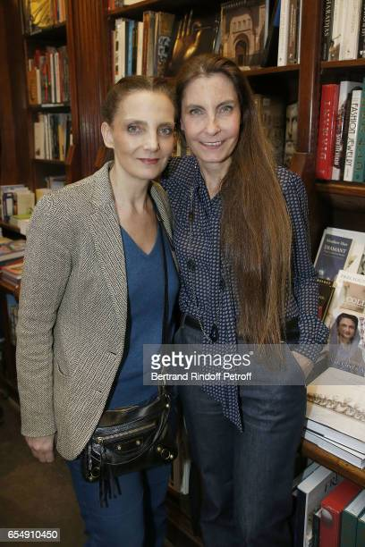 Alejandra Di India and her sister Francisca Matteoli attend Bertrand Matteoli Signing Book 'Bien Dans Sa Peau' at Librairie Galignali on March 18...