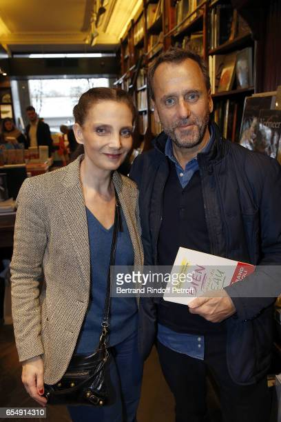 Alejandra Di India and Hubert Le Gall attend Bertrand Matteoli Signing Book 'Bien Dans Sa Peau' at Librairie Galignali on March 18 2017 in Paris...