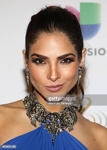Alejandra Espinoza attends the 2015 Premios Lo Nuestros Awards at American Airlines Arena on February 19 2015 in Miami Florida