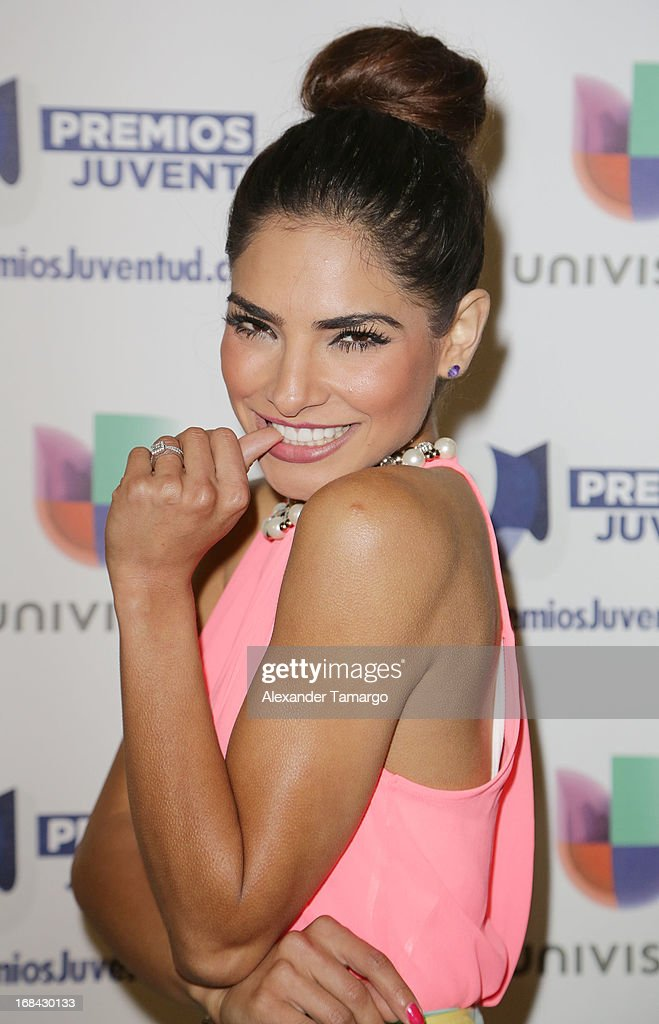 Alejandra Espinoza attends Univisions Premios Juventud Awards Nominees press conference at Univision Headquarters on May 9, 2013 in Miami, Florida.