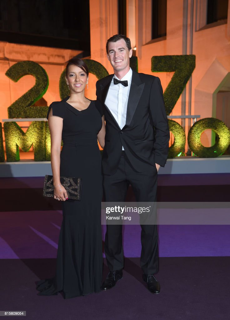 Alejandra Gutierrez and Jamie Murray attend the Wimbledon Winners Dinner at The Guildhall on July 16, 2017 in London, England.