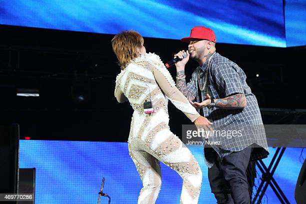 Alejandra Guzman and Farruko perform during La Mega Mezcla Live at Madison Square Garden on April 14 2015 in New York City