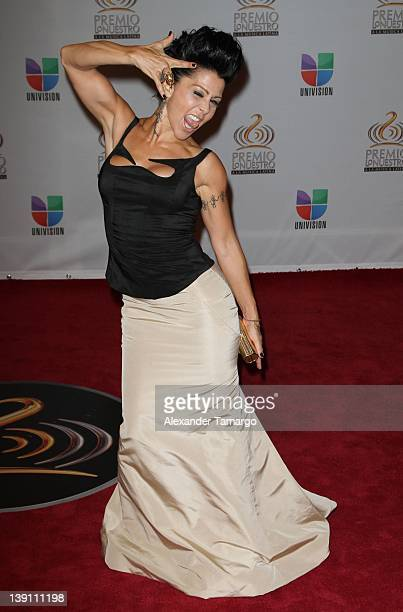 Alejandra Guzman arrives at Univision's Premio Lo Nuestro a La Musica Latina at American Airlines Arena on February 16 2012 in Miami Florida