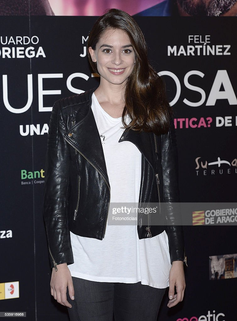 Alejandra Meco attends the 'Nuestros Amantes' premiere at Palafox cinema on May 30, 2016 in Madrid, Spain.
