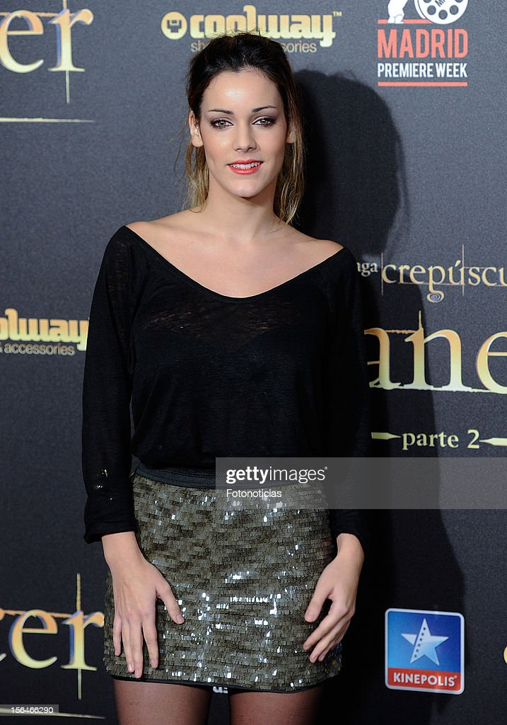 Alejandra Onieva attends the premiere of 'The Twilight Saga: Breaking Dawn - Part 2' (La Saga Crepusculo: Amanecer- Parte 2) at kinepolis Cinema on November 15, 2012 in Madrid, Spain.