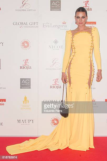 Alejandra Osborne attends the Global Gift Gala photocall at Madrid Townhall on April 2 2016 in Madrid Spain