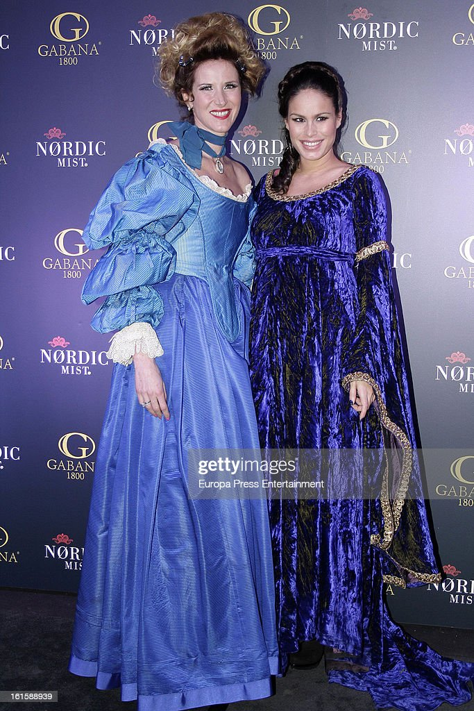 Alejandra Prat and <a gi-track='captionPersonalityLinkClicked' href=/galleries/search?phrase=Mireia+Canalda&family=editorial&specificpeople=4356463 ng-click='$event.stopPropagation()'>Mireia Canalda</a> attend 'Carnaval 2013' Party at Gabana 1800 Clubon February 7, 2013 in Madrid, Spain.