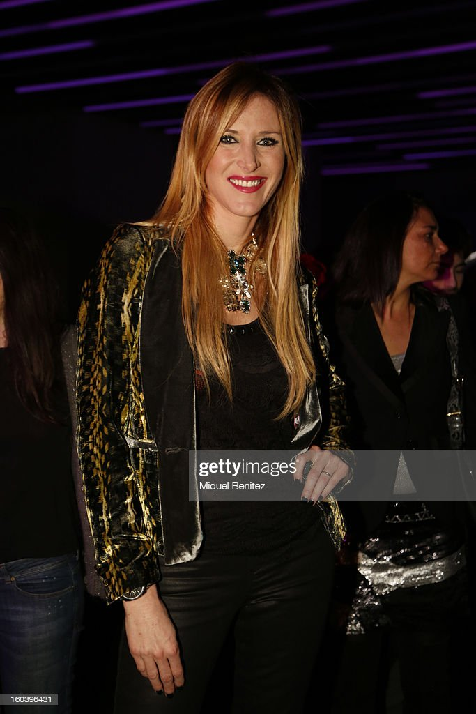 Alejandra Prat attends the Custo Barcelona fashion show as part of the 080 Barcelona Fashion Week Autumn/Winter 2013-2014 on January 30, 2013 in Barcelona, Spain.