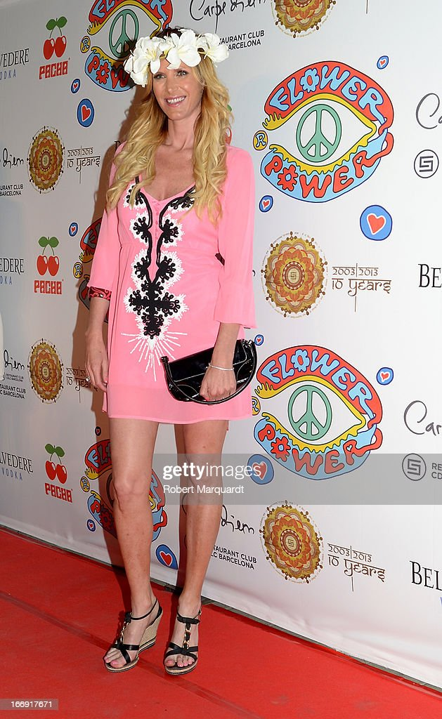 Alejandra Prat attends the Flower Power Pacha Party 2013 at the Carpe Diem club on April 18, 2013 in Barcelona, Spain.