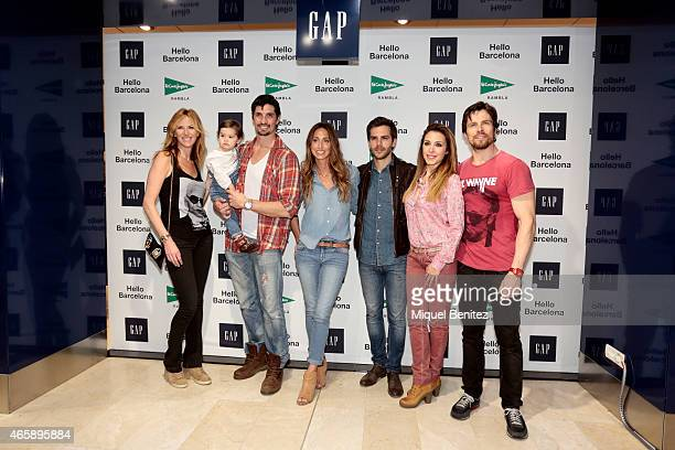 Alejandra Prat Ines Lopez Felipe Lopez Gemma Mengual Marc Clotet Gisela Llado 'Gisela' and Octavi Pujades attend the GAP Space Inauguration at the...